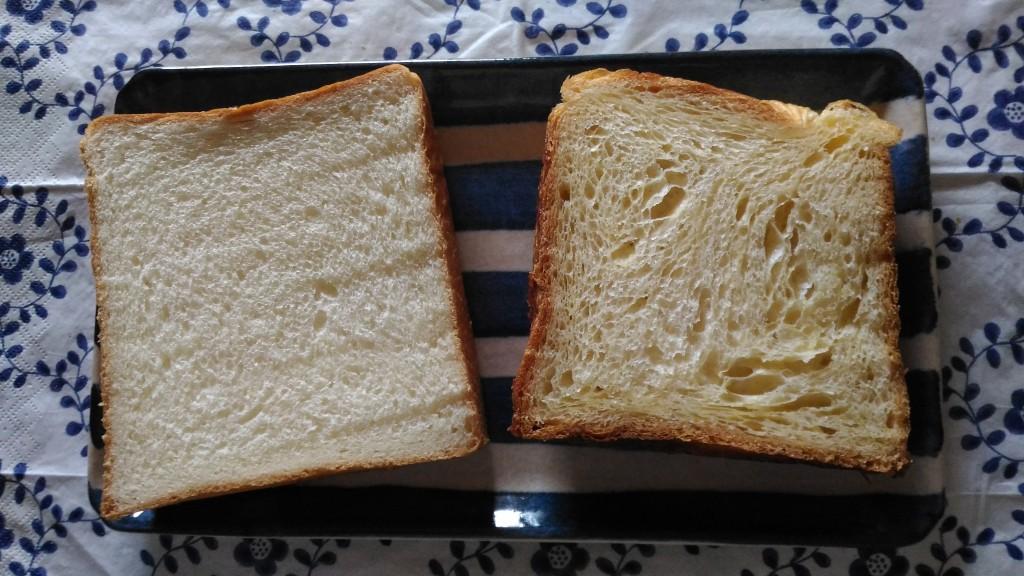 全くタイプの違う2種類の食パン