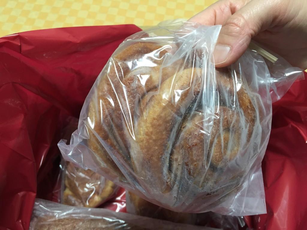 パンを取り出してみたところです