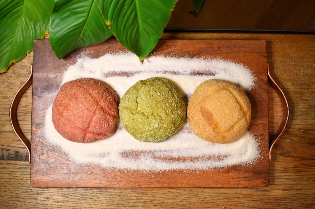 写真左から:フランボワーズ・抹茶・バニラ